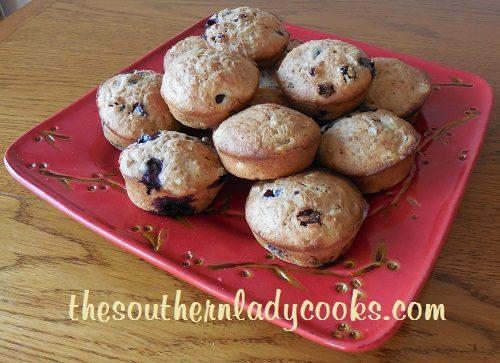 Pineapple Blueberry Bran Muffins - Copy