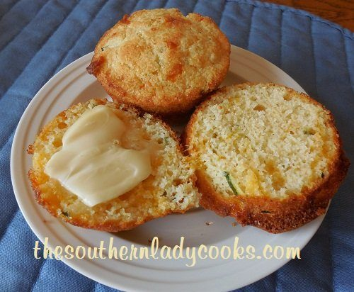 Cheesy Zucchini Cornbread Muffins - TSLC