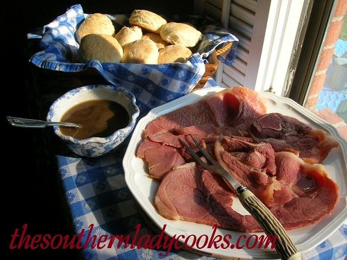 Southern Biscuits, Country Ham and Red Eye Gravy -TSLC