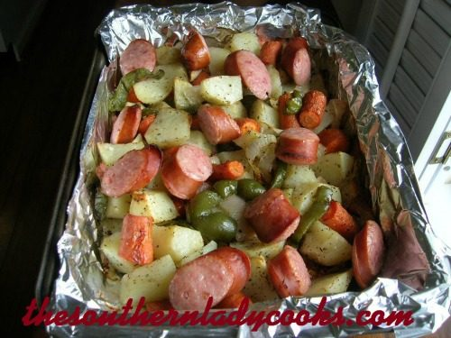 Smoked Sausage and Roasted Vegetables-TSLC