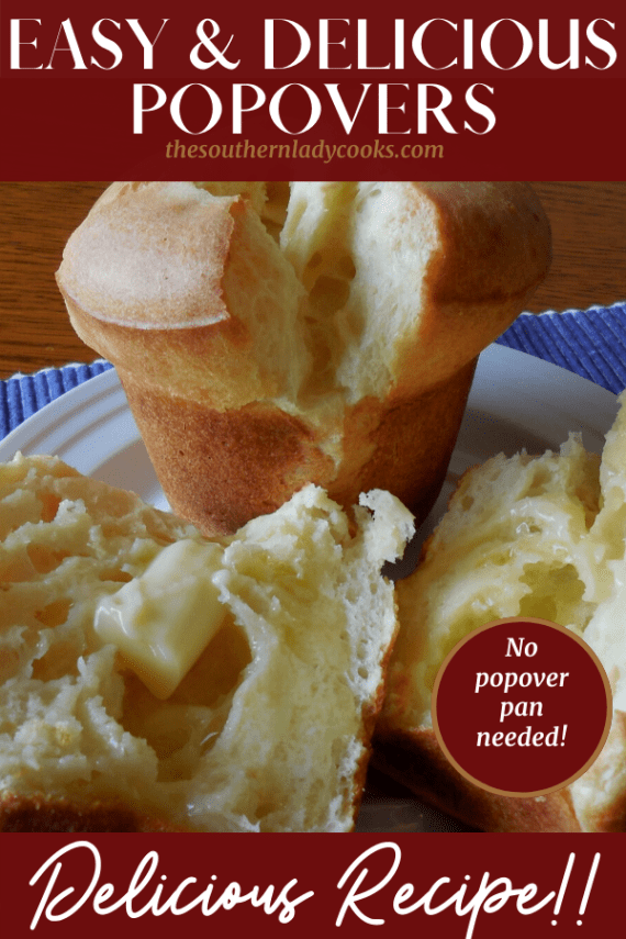 Popovers The Southern Lady Cooks Easy Recipe
