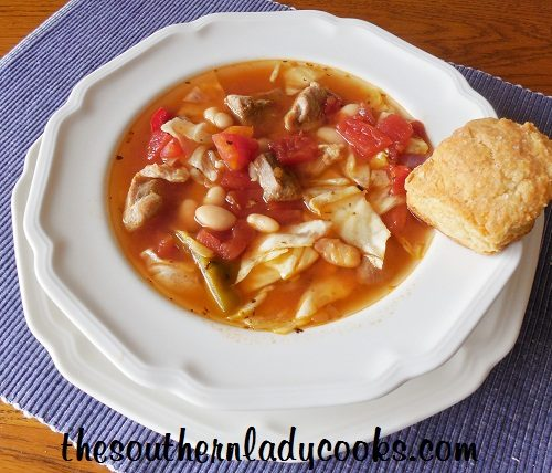 Cabbage and White Bean Soup - TSLC