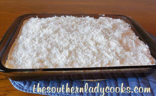 Easy Sour Cream Coconut Cake - TSLC