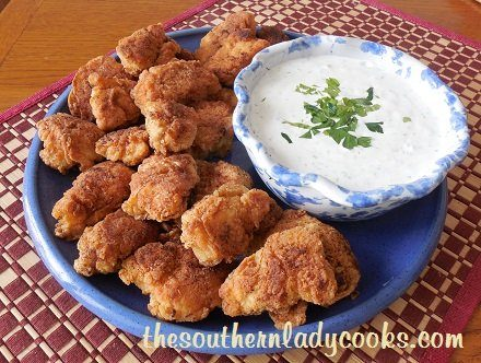 Chicken Nuggets with Homemade Ranch Dressing - Copy