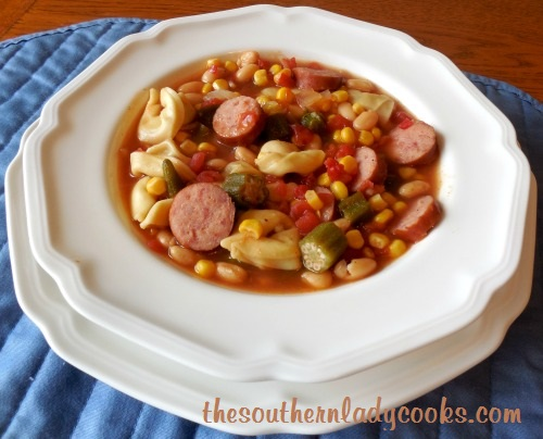 Sausage, Veggies and Tortellini Soup TSLC - Copy