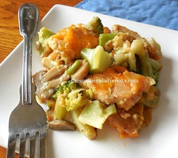 Cheesy Broccoli Chicken Casserole