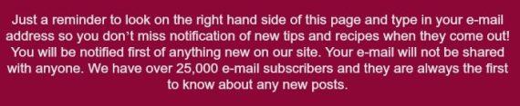e-mail reminder TSLC
