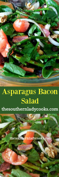 The Southern Lady Cooks Asparagus Bacon Salad Light Recipe