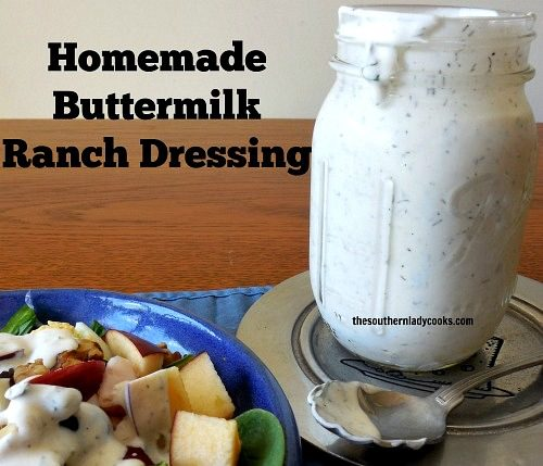 Homemade Buttermilk Ranch Dressing