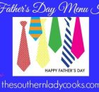 TEN FATHERS DAY MENU IDEAS