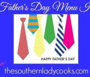 TEN FATHERS DAY MENU IDEAS