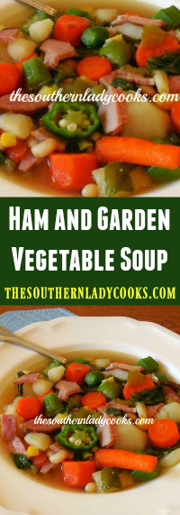 The Southern Lady Cooks Ham and Garden Vegetable Soup