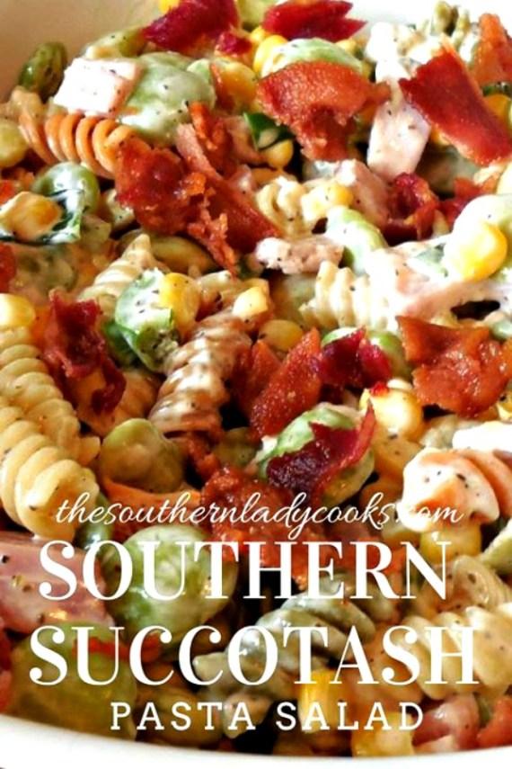Succotash Pasta Salad -The Southern Lady Cooks