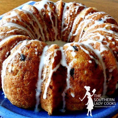 Pineapple Raisin Bran Brunch Cake