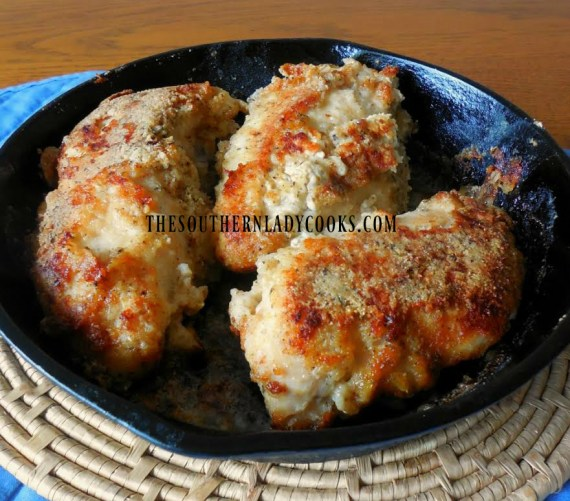 Crispy baked chicken breasts