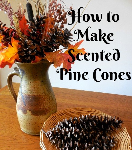 Scented pine cones - how to make -The Southern Lady Cooks