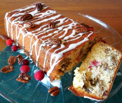 Cranberry Loaf Cake-The Southern Lady Cooks