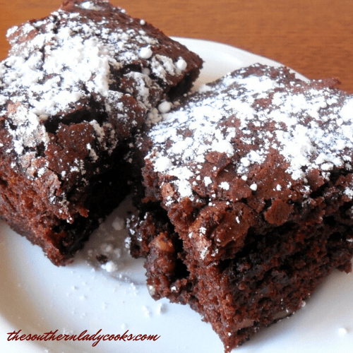 Chocolate Applesauce Brownies - The Southern Lady Cooks