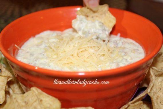 Crock Pot Artichoke Sausage Dip The Southern Lady Cooks