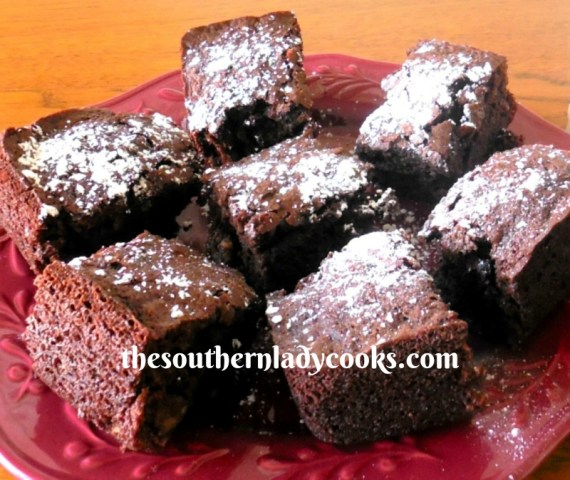 Chocolate Applesauce Brownies The Southern Lady Cooks