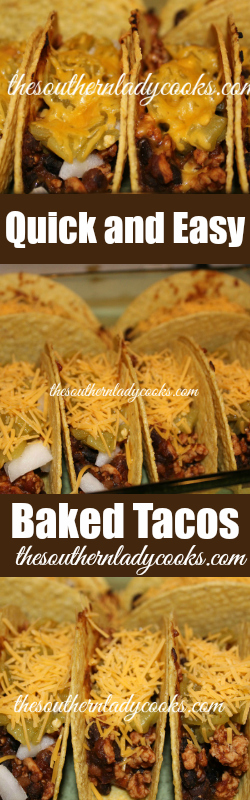 The Southern Lady Cooks Baked Tacos