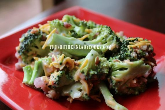 Easy Broccoli Salad - The Southern Lady Cooks