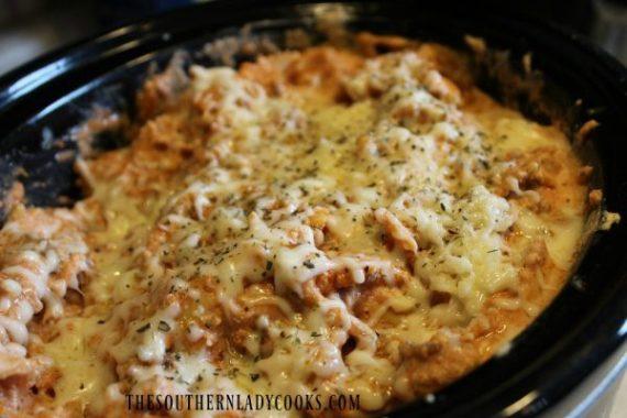 Crock Pot Pasta with Italian Sausage