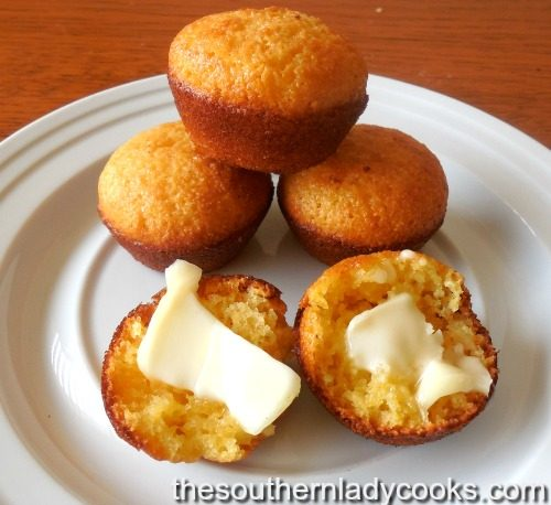 Sweet Cornbread Muffins - The Southern Lady Cooks