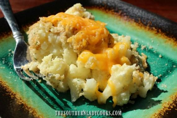 Cheesy Garlic Cauliflower Casserole The Southern Lady Cooks