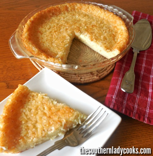 Old Fashioned Impossible Pie The Southern Lady Cooks