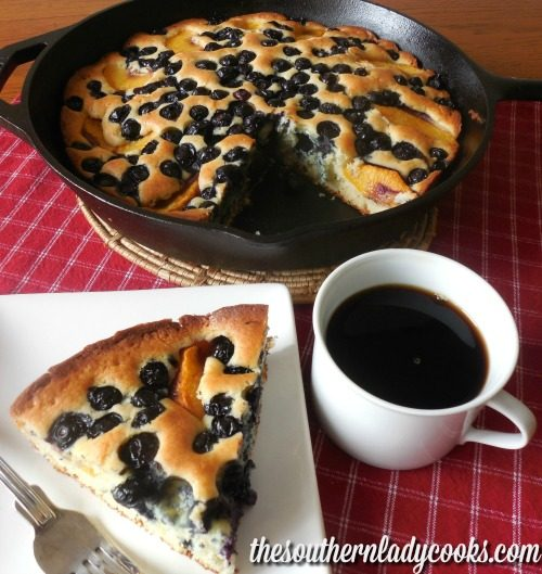 iron skillet cake blueberry recipe