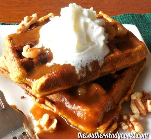 Easy Pumpkin Waffles with Pumpkin Syrup The Southern Lady Cooks