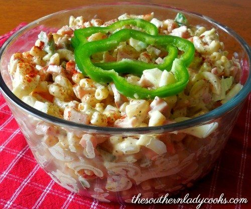 Sweet Macaroni Salad Green Pepper Recipes