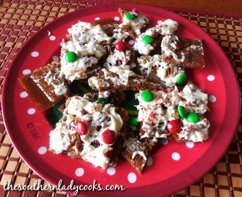 Caramel pecan graham crackers