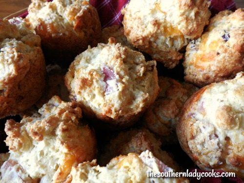 Easy Ham Cheddar Muffins