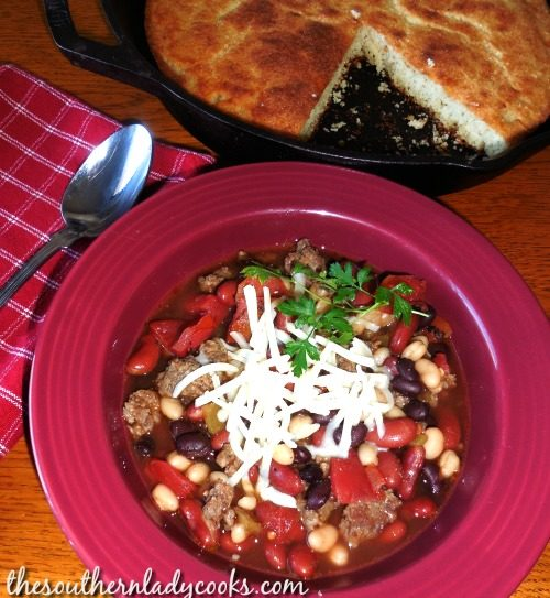 Mexican Bean Soup-The Southern Lady Cooks