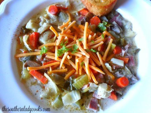 Easy Ham Artichoke Soup