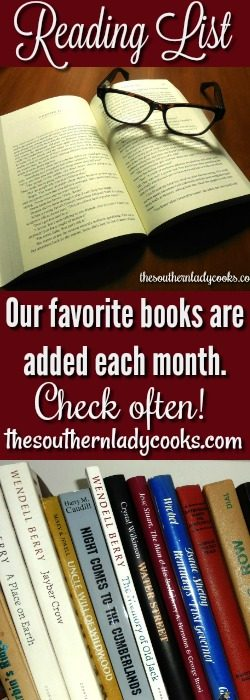 THE SOUTHERN LADY COOKS MONTHLY READING LIST - The Southern