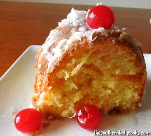 Easy Lemon Fruit Cake