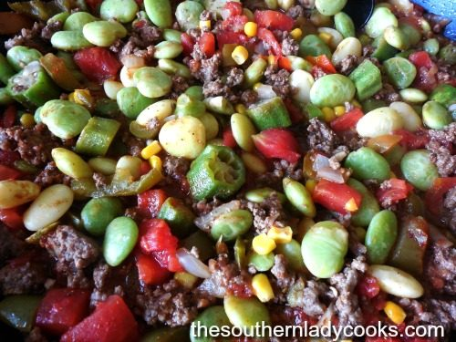 Lima Bean Skillet Dish The Southern Lady Cooks