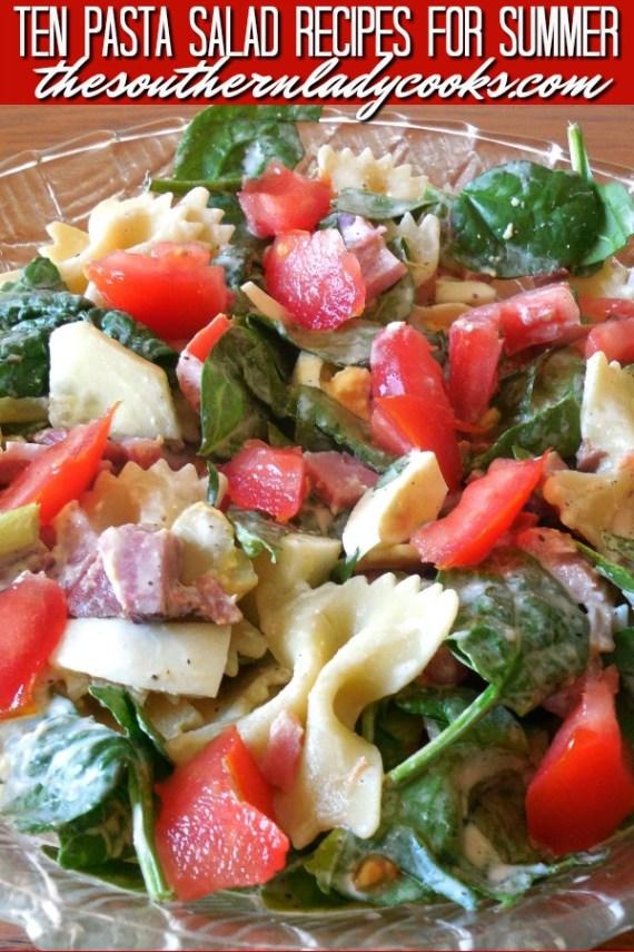 Ten Pasta Salad Recipes for Summer