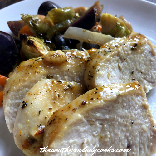Garlic Chicken Roasted Vegetables The Southern Lady Cooks
