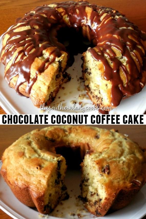 Chocolate Coconut Coffee Cake