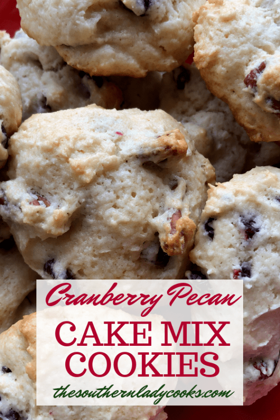 Cranberry Pecan Cake Mix Cookies