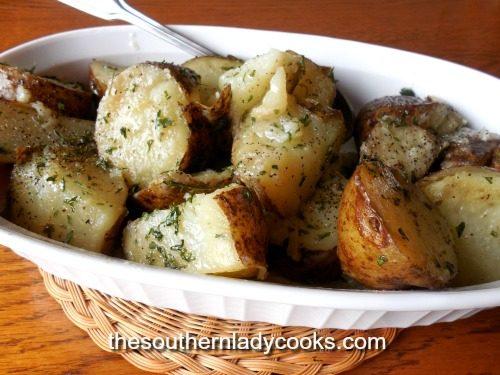Microwave Parsley Potatoes