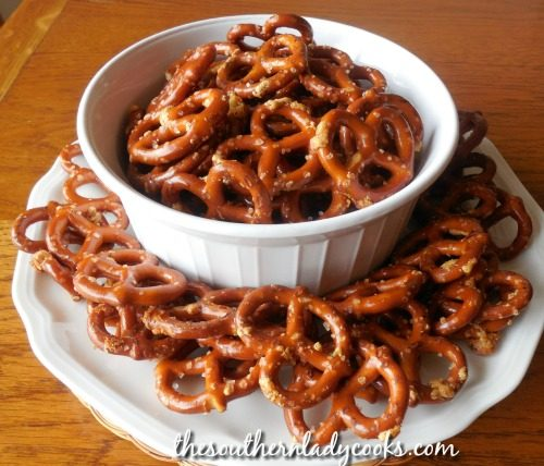 Ranch Pretzels - The Southern Lady Cooks