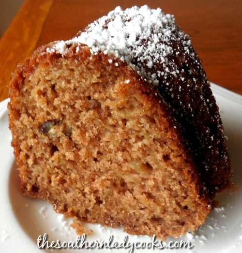 Apple Cinnamon Bundt Cake - The Southern Lady Cooks