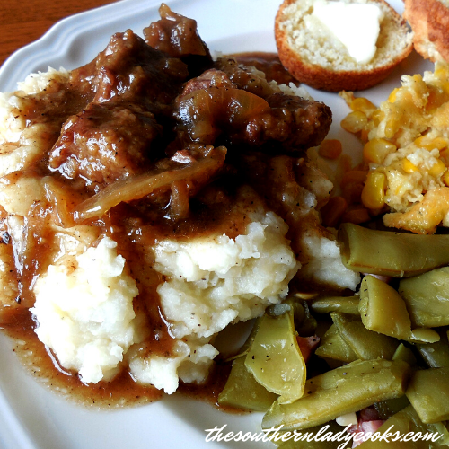 Crock Pot Beef Tips and Gravy - The Southern Lady Cooks