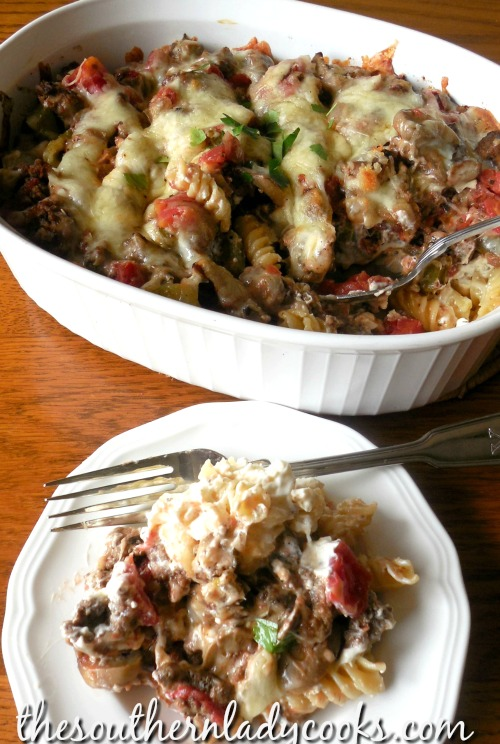 Cheesy Italian Hamburger Casserole