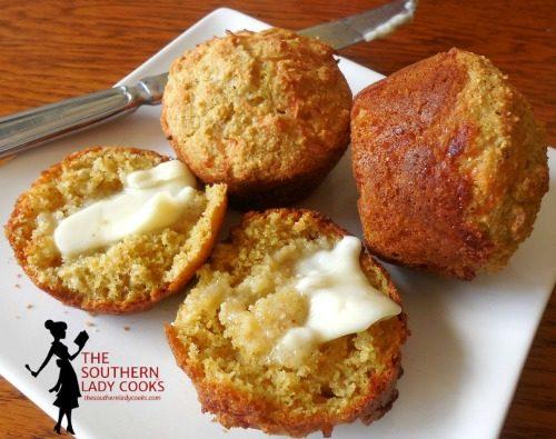 Mozzarella Cornbread Muffins